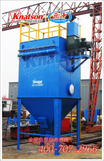 胜达板厂锅炉HGMC 64单机脉冲布袋除尘器发货现场 -单机脉冲除尘
