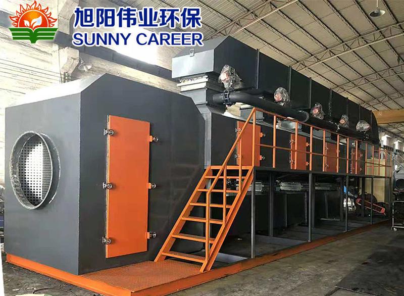 广州佛山60000m3/h喷漆废气催化燃烧设备