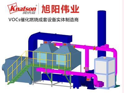我公司为加美中(北京)科技有限公司安装20000m3/h催化燃烧设备