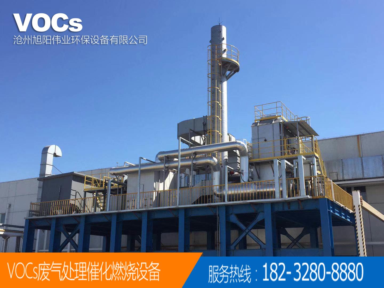 广州中山60000m3/h喷漆废气催化燃烧设备