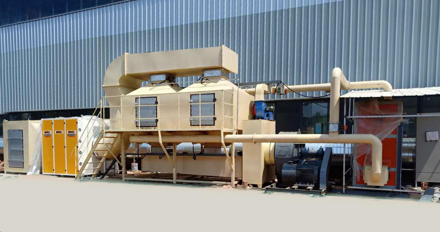 我公司为湖北株洲安装40000m3/h催化燃烧设备一台