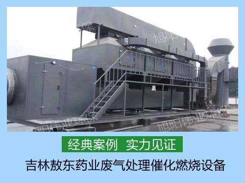 我公司为吉林敖东安装40000m3/h喷涂废气催化燃烧设备