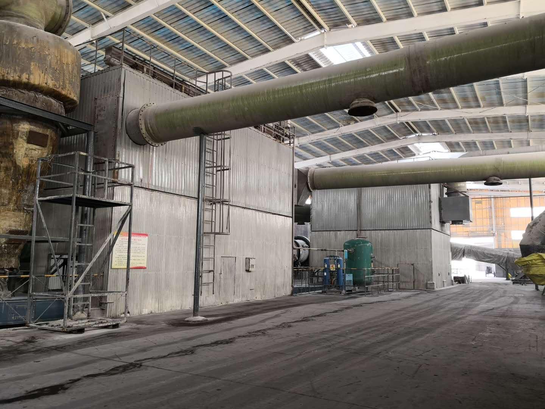 2015年改造安装的复合肥生产线布袋除尘器现场
