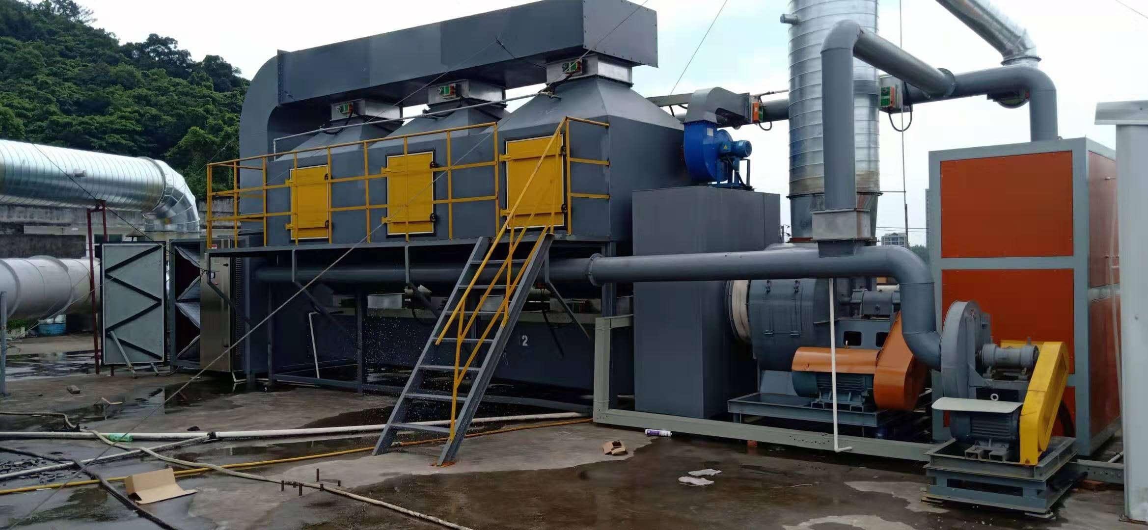 喷漆废气环保设备催化燃烧装置浙江温州成功案例