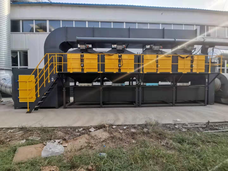 河北广平双李家具厂喷漆治理催化燃烧设备CJ-60000
