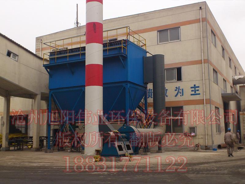 5万吨复混肥生产线冷却机配套HFMC-600型复合肥布袋除尘器