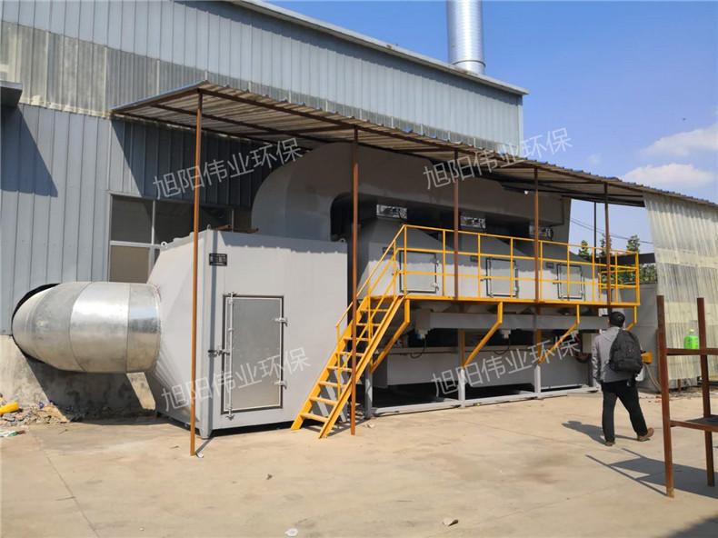 60000m3/h温州油漆车间废气处理设备催化燃烧设备
