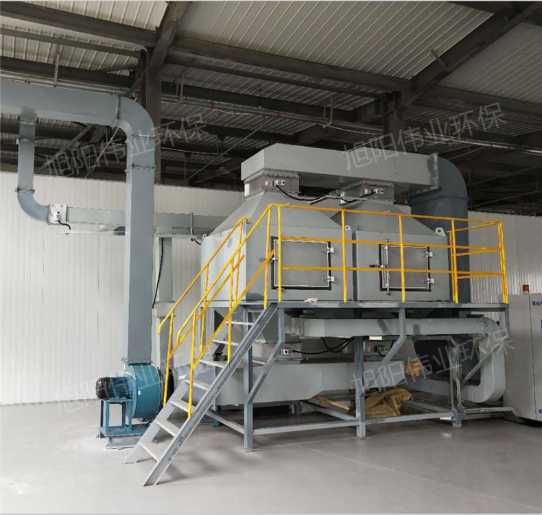 20000m3/h广州喷漆房废气处理催化燃烧设备
