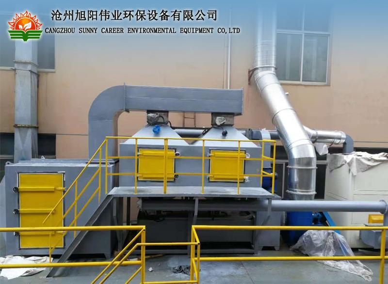 30000m3/h上海喷漆房废气治理催化燃烧设备