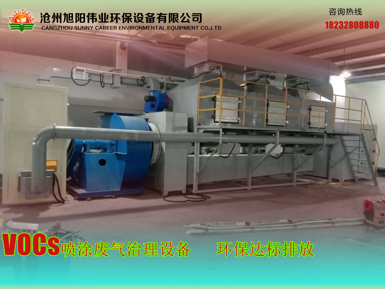 50000m3/h天津喷涂废气催化燃烧治理设备