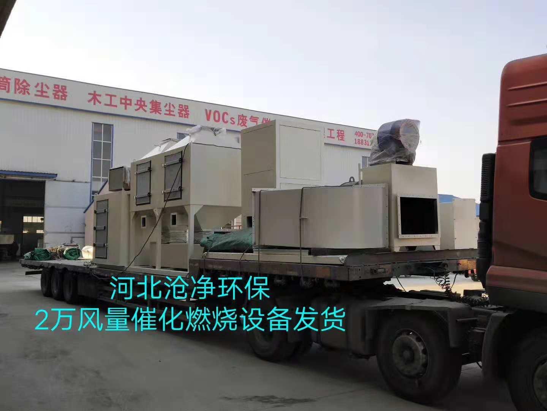 20000m3/h橡胶废气治理催化燃烧设备